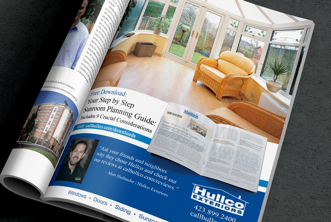 Hullco Exteriors - Graphic Design CityScope Magazine